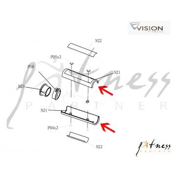 Carcasă mâner HR Vision Fitness X6200